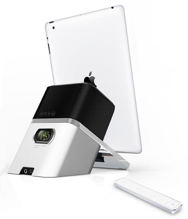 Idelighted concept dock speaker with pico projector for Pico projector ipad