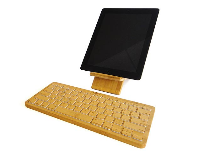 iZen Bamboo Bluetooth Wireless Keyboard