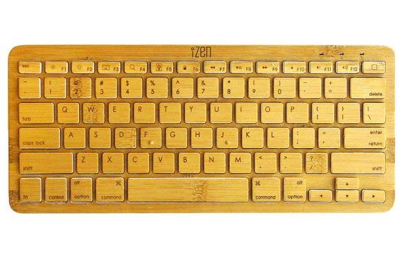 iZen Bamboo Bluetooth Wireless Keyboard