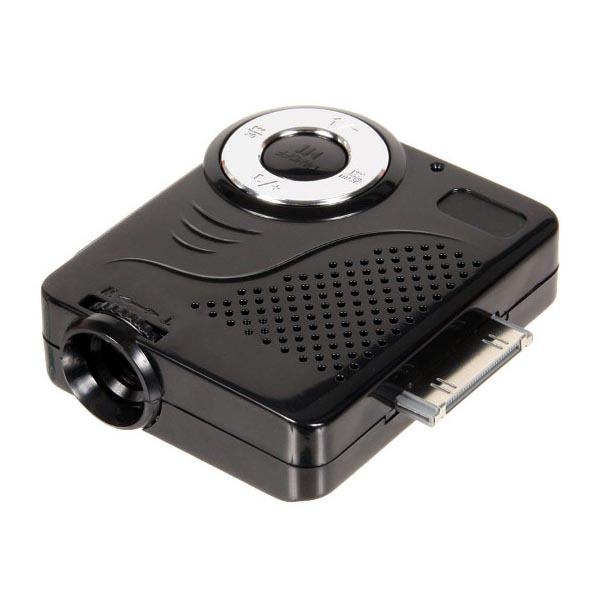 Mini projector for iphone ipad and ipod touch gadgetsin for Best pocket projector for iphone