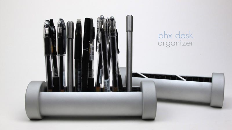 PHX Desk Organizer for Pens, Cords and More