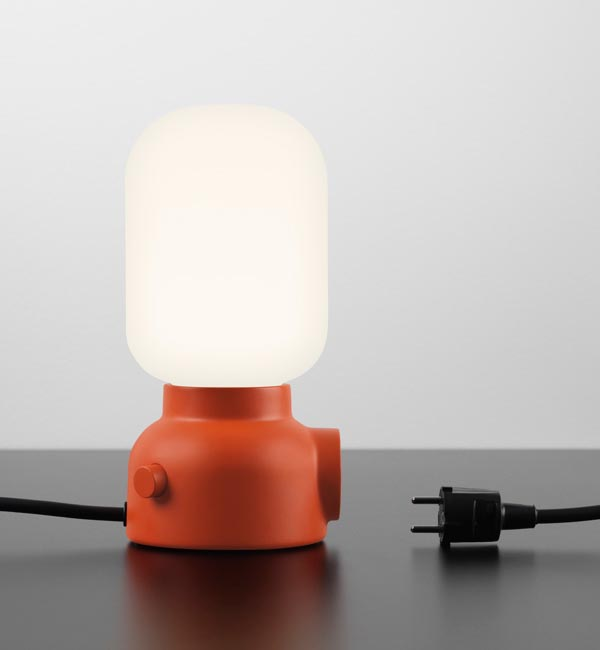 Plug Lamp with Integrated Outlet