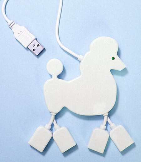 Poodle Shaped USB Hub