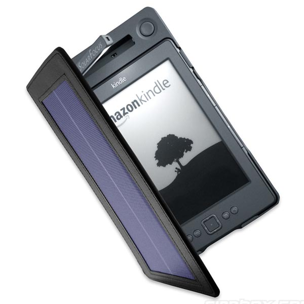 SolarKindle Lighted Cover Solar-Powered Kindle Case