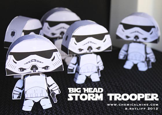 Star Wars Big Head Paper Crafts