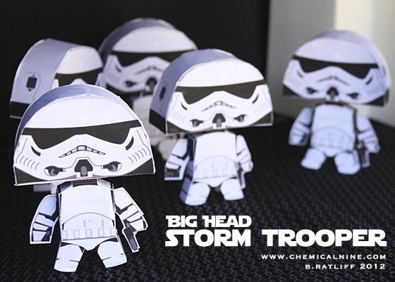 Star Wars Big Head Paper Crafts