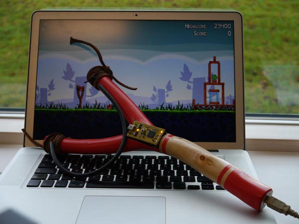 Take Control of Angry Birds with USB Slingshot