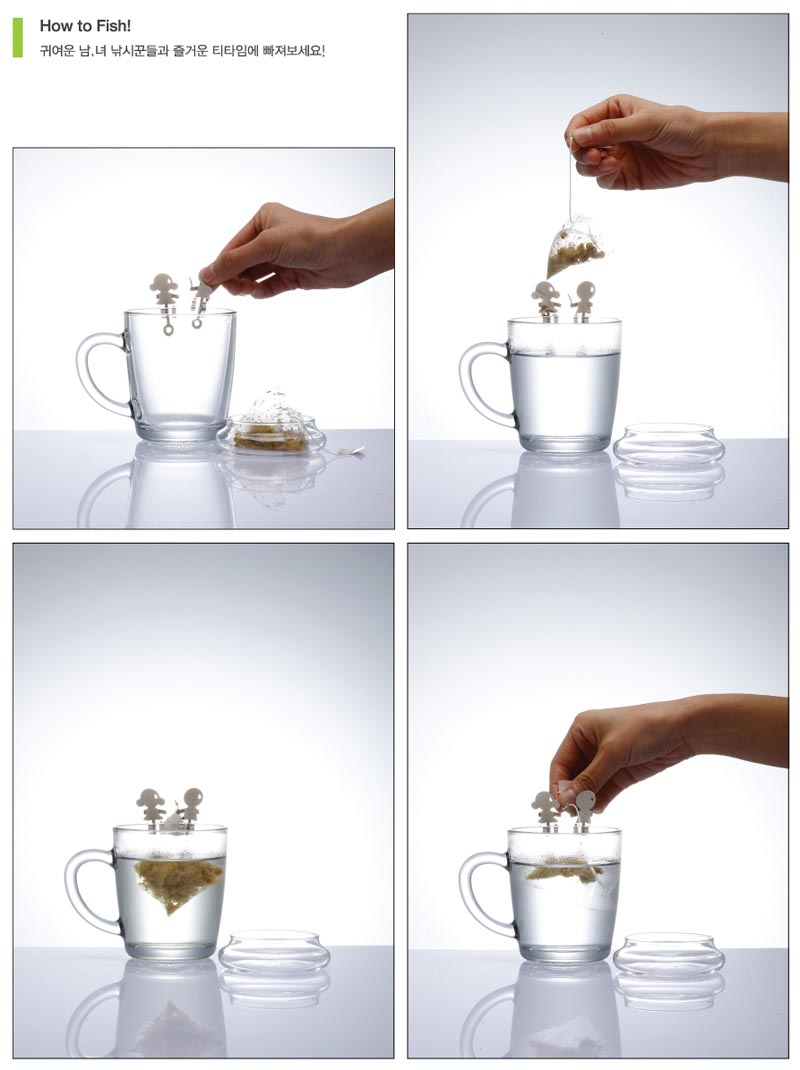 Tea Fishing Tea Bag Holder