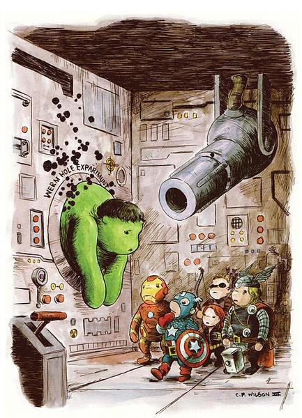 The Avengers in Winnie the Pooh
