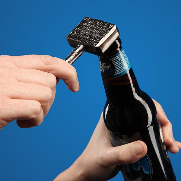 Thor's Hammer Shaped Bottle Opener