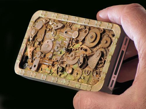 Handmade Steampunk iPhone 4 Case