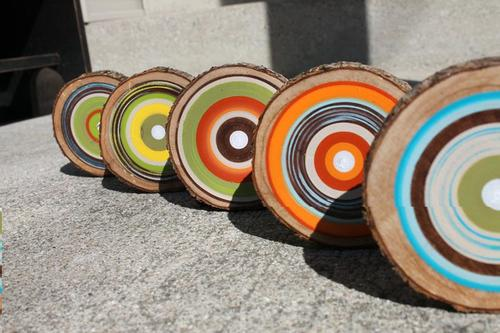 Colorful Wooden Coaster Set