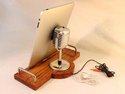 Handmade Docking Station with Retro Microphone for iPhone, iPad and iPod Touch