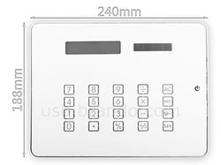 Mouse Pad with USB Hub and Solar Calculator