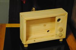 Handcrafted Retro TV Styled iPad Stand