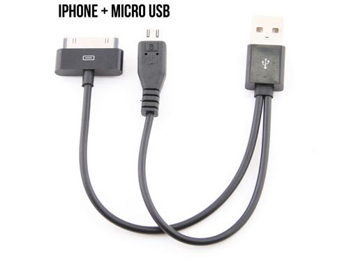 2-Connector USB Sync and Charging Cable