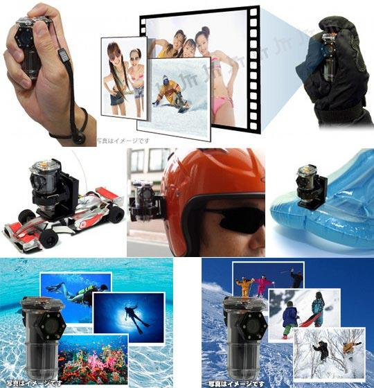 Chobi Cam Sports Gear Waterproof Mini Camera