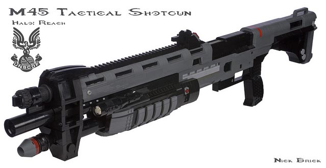 Halo: Reach M45 Tactical Shotgun Built with LEGO Bricks