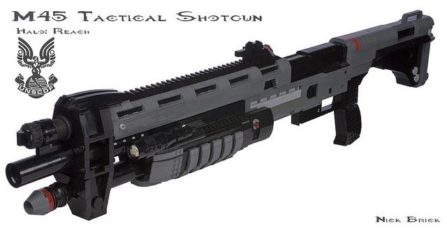 Halo: Reach M45 Tactical Shotgun Built with LEGO Bricks