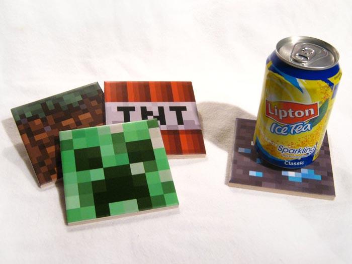 Handmade Minecraft Coaster Set