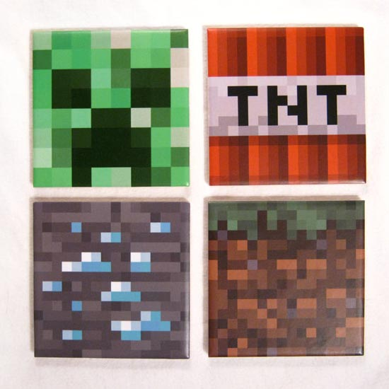 Handmade Minecraft Coaster Set