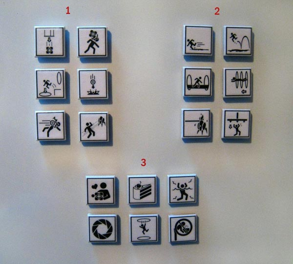 Handmade Portal Warning Sign Fridge Magnet Set