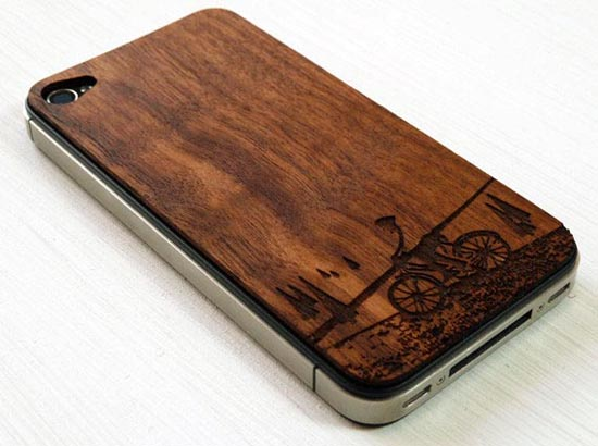 Handmade Wooden iPhone 4 Covers