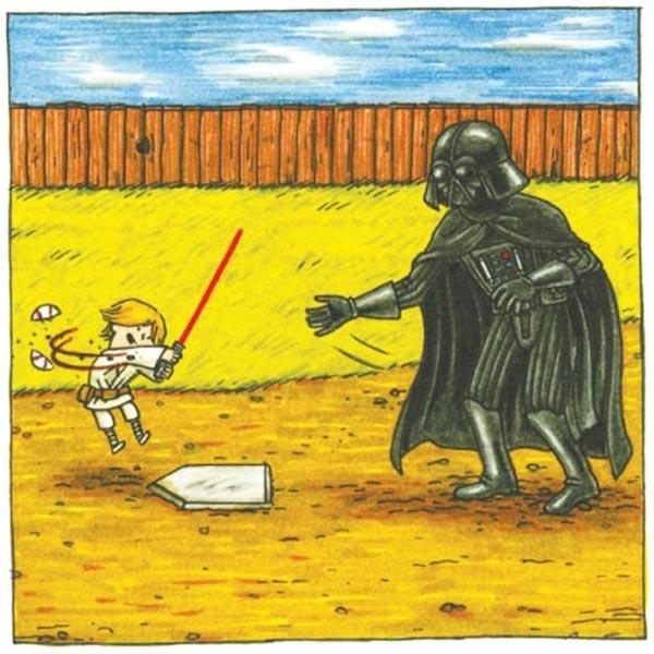 """If Darth Vader had been a good father"" Illustrations"
