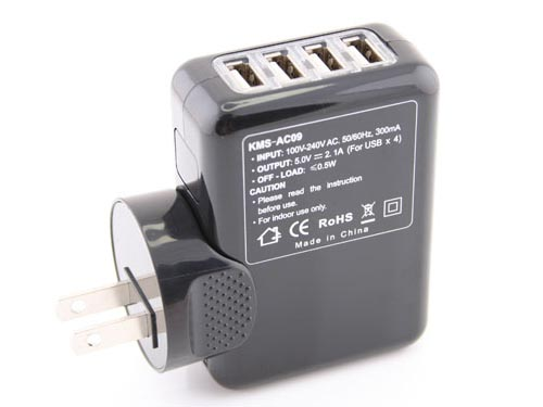 Portable 4-Port USB Charger