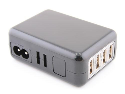 Portable 4-Port USB Charger