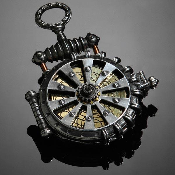 Solar Turbine Steampunk Pocket Watch