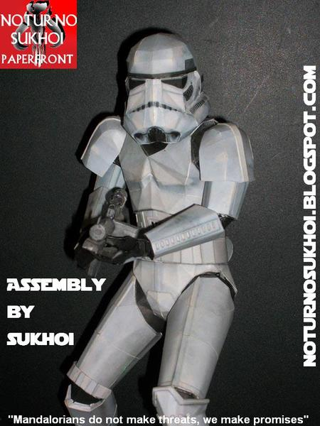 Star Wars Stormtrooper Paper Craft