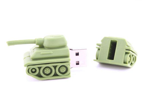 Tank Shaped USB Flash Drive