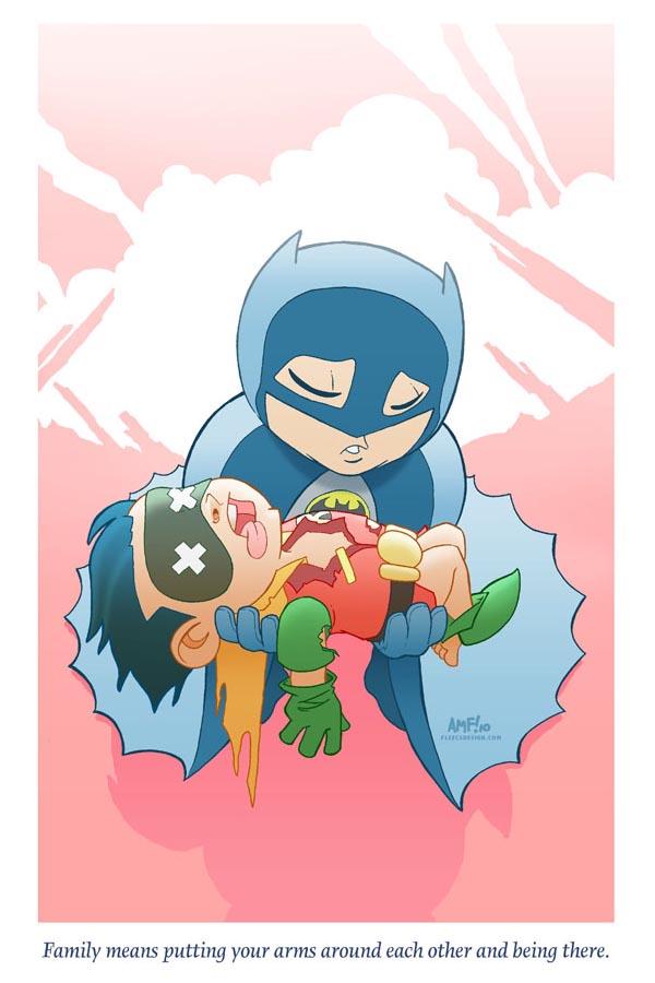 Terrible Superhero Tragedies in Adorable Style
