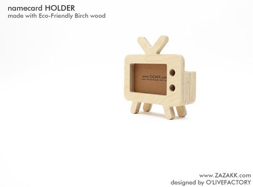 ZAKKA Retro TV Styled Business Card Holder