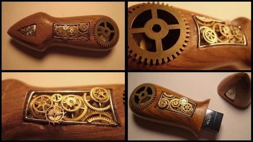 Handmade Steampunk USB Drive