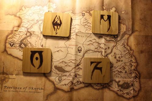 The Elder Scrolls V Skyrim Coaster Set