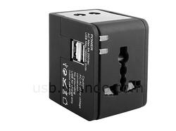 Universal Travel Adapter with 2-Port USB Charger
