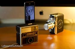 Handmade iPhone Dock from Vintage Camera