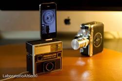 Handmade iPhone Dock from Vintage Camera