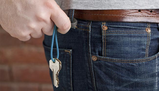 Carabandits A Carabiner Hook with Rubber Band