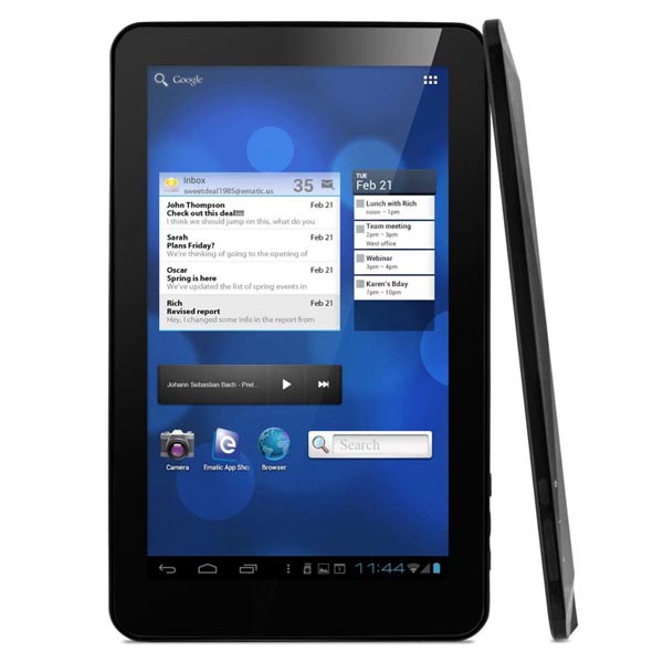 Ematic eGlide XL Pro II Android Tablet