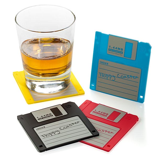Floppy Disk Styled Drink Coasters