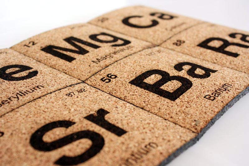 handmade periodic table coaster set gadgetsin