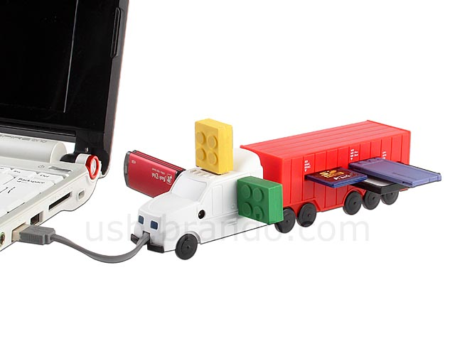 Lorry Shaped USB Hub with Card Reader