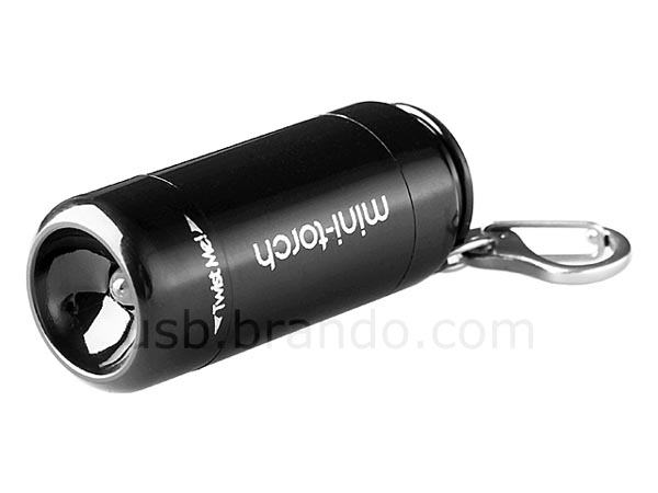 Mini Flashlight Keychain with USB Card Reader