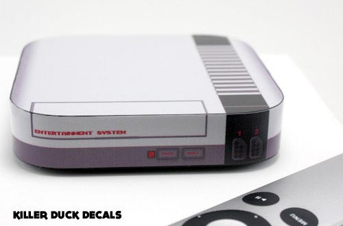 NES Game Console Vinyl Decal for Apple TV