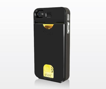 NUU ClickMate PowerPlus iPhone 4 Case with Interchangeable Backup Battery and Card Holder