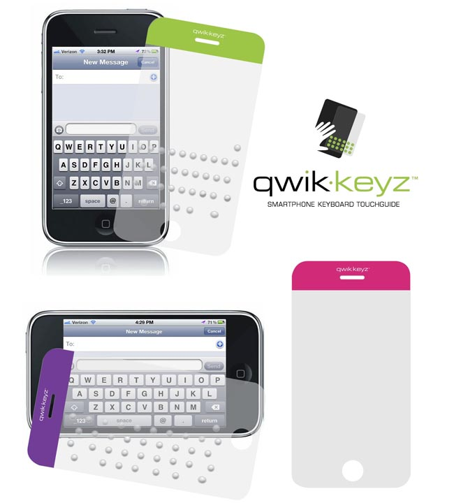 Qwik-keyz Keyboard TouchGuide Screen Protector