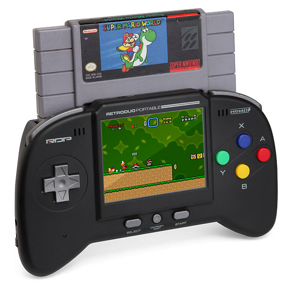 retro duo portable gaming system for your old nintendo nes